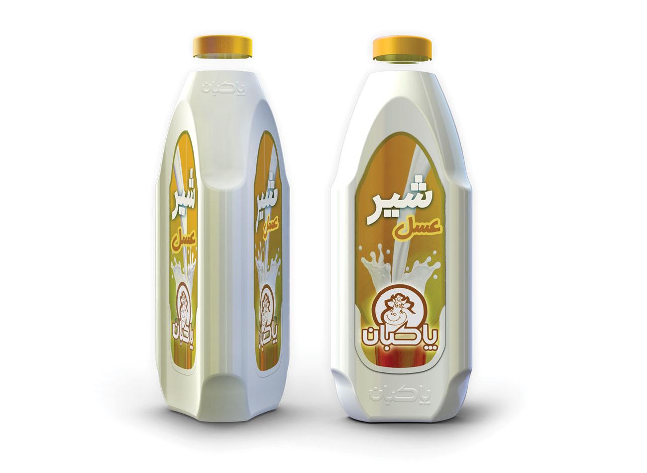 طراحی بسته بندی شیر