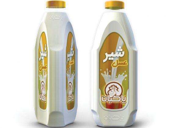 بسنه بندی-طراحی-بطری-شیر