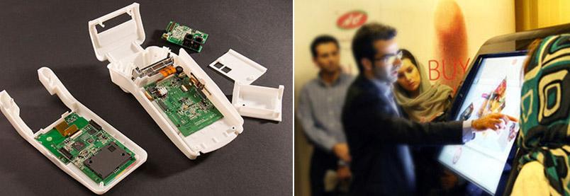 (راست) نمونه ساخته شده با قابلیت تعامل کاربر (چپ) نمونه سازی دقیق قطعه پلاستیکی با روش FDM