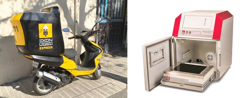(راست) نمونه اولیه محصول تولید شده (چپ) نمونه اولیه محصول تولید شده