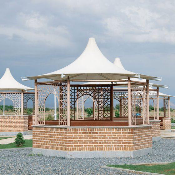 طراحی-آلاچیق-کاروانسرل-مادرشاه- مبلمان شهری